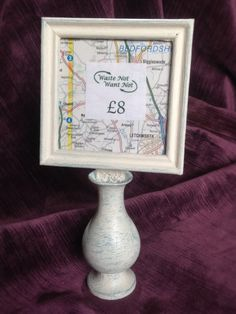Upcycled Chalk Painted Frame by WNWNUpcycling on Etsy