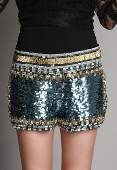 Joulik sequin shorts, because why not??!      #cassylondon #unusualstyle