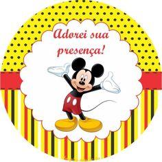 Mickey Mouse Kit festa infantil grátis para imprimir – Inspire sua Festa ®