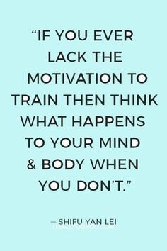 """""""If you ever lack the motivation to train then think what happens to your mind & body when you don't"""" ― Shifu Yan Lei. Click here for the 4 simple steps to creating a workout routine for beginners, including what exercises you can do at home, or at a gym. #FitnessQuotes #HealthQuotes#FitnessGoals #HealthGoals #Wellness #HealthyLife #HealthyBody #HealthFitness #GetHealthy #HealthyHabits #HealthyChoices #Motivation How To Get Motivated, Workout Routines For Beginners, Good Motivation, Do Homework, What Happened To You, Strength Workout, Health Goals, Health Quotes, You Fitness"""