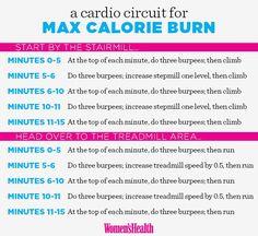 3 Heart-Pumping Cardio Circuits  http://www.womenshealthmag.com/fitness/cardio-circuits