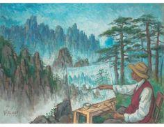 Liu Haisu's Tenth Trip to Mount Huangshan; Artist: Liu Kang; Year: 1989; Country: Singapore; Medium: oil on canvas; Dimensions: 126 x 170 cm