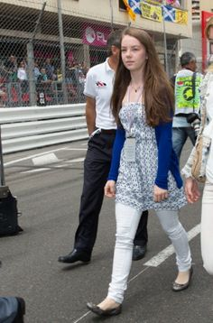 Princess Alexandra of Hanover attends the F1 Grand Prix of Monaco Race Circuit on 25.05.2014 in Monte-Carlo, Monaco.