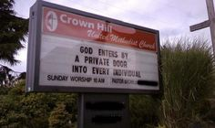 Funny Church Signs – Sexual Innuendo (Photo Gallery)