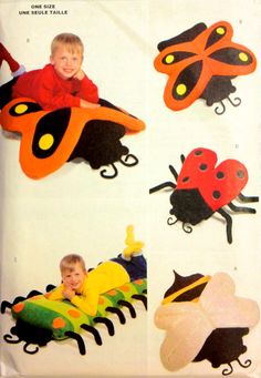 BODY PILLOW Covers Sewing Pattern - Bumble Bee Butterfly Lady Bug Caterpillar Bug Pillows Cover - RARE HTF OOP #patterns4you