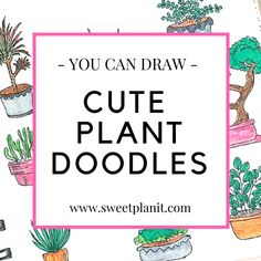 More doodle inspiration! Create cute plant doodles in your bullet journal or planner. Fun, easy to make doodles anyone can draw! Bullet Journal Icons, Bullet Journal Ideas Pages, Bullet Journal Inspiration, Bullet Journals, Doodle For Beginners, Bullet Journal For Beginners, Diy Projects Journal, Art Projects, Doodle Drawings