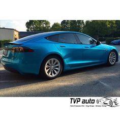 Cool Tesla wrap done in 3M Graphics Gloss Atlantis Blue. Thanks TVP Auto, tvpauto.com