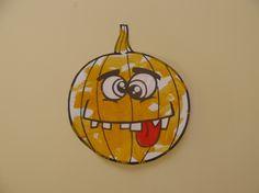 Citrouille à peindre pour décoration d'Halloween