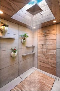 Bathroom tile ideas to get your home design juices flowing. will amp up your oth… Bathroom tile ideas to get your home design juices flowing. will amp up your oth…,Dream House Bathroom tile ideas. Waterfall Shower, Wall Waterfall, Sweet Home, Modern Bathroom Design, Modern Bathrooms, Luxurious Bathrooms, Modern House Design, Dream House Design, Wood House Design