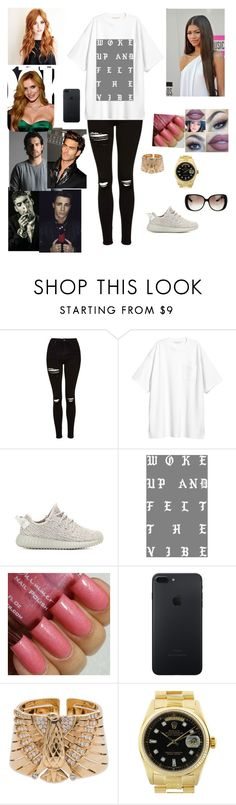 """""""Untitled #1763"""" by julianacarval ❤ liked on Polyvore featuring Topshop, adidas Originals, Coleman, Lumière, Cartier, Rolex and Gucci"""