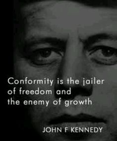 Stop demanding conformity and a homogenized society. Preserve individuality.