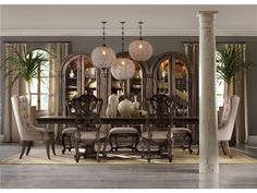 Hooker Furniture Dining Room Rhapsody Rectangle Dining Table