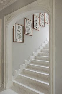 Opening up a narrow enclosed stairway is a great idea for Enclosed staircase design