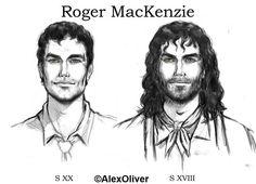 Roger by Alex Oliver Diana Gabaldon Outlander Series, Outlander Book Series, Starz Series, Fan Anime, Anime Art, Outlander Characters, Saga, Outlander Fan Art, Drums Of Autumn