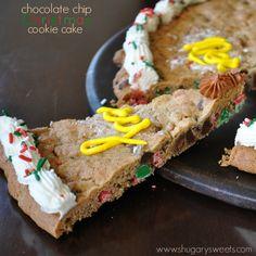 Chocolate Chip Christmas Cookie Cake recipe