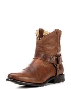 Frye | Women's Wyatt Harness Short Boot - Cognac | Country Outfitter