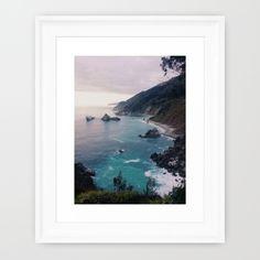 Big Sur Sunset Framed Art Print by Alicia Magnuson - $37.00