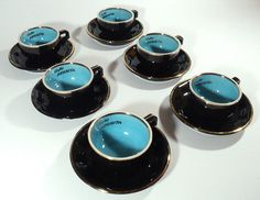 6 Cups of Coffee Negrita Espresso Set with by LaBelleEpoqueDeco