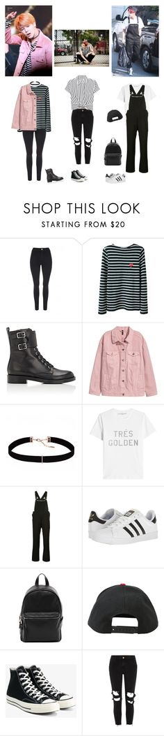"""Bts jimin's outfits"" by mochichimchim ❤ liked on Polyvore featuring Jane Norman, Converse, Gianvito Rossi, Astrid & Miyu, Golden Goose, Yohji Yamamoto, adidas, French Connection, Hot Topic and River Island"
