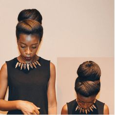 4 Natural Hair Bun Styles That Are Absolutely Stunning
