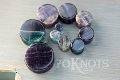 Hey, I found this really awesome Etsy listing at https://www.etsy.com/listing/196107640/rainbow-fluorite-stone-plugs-double