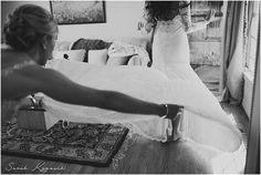 Bride getting ready, Black and White, Bridal gown, Detroit Yacht Club Wedding, Belle Isle, Metro Detroit Wedding, The Knot Top Pick, Sarah Kossuch Photography