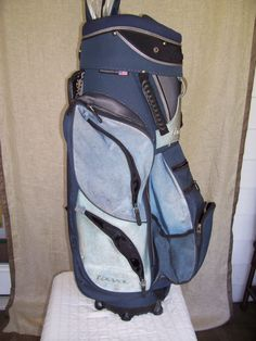 MIZUNO used Golf Bag - 35  3/4 inches Tall - All Zippers working by LIZ404 on Etsy Vintage Golf Clubs, Golf Bags, Zippers, Ebay, Door Hinges