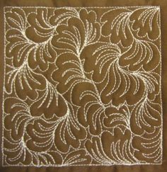 The Free Motion Quilting Project: Day 132 - Swirling Petals This would be beautiful in a traditional applique quilt. Patchwork Quilting, Quilting Stitch Patterns, Machine Quilting Patterns, Quilt Stitching, Quilt Patterns, Quilts, Longarm Quilting, Hand Quilting, Quilting Stencils