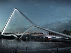 Global architecture firm 10 Design and engineering consultants Buro Happold have won the international design competition to create a signature bridge in the southern Chinese city of Zhuhai