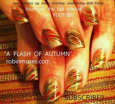 "Nail-art by Robin Moses: ""cute fall nails"" ""cute fall nail art"" ""fall nail art"" ""fall thanksgiving autumn nail art"" ""autumn leaves nail art"". Thanksgiving Nail Designs, Thanksgiving Nails, Robin Moses, Cute Nail Art, Easy Nail Art, Monkey Nails, Nailart, Cute Nails For Fall, Fall Nail Art Designs"