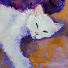 "Daily Paintworks - ""Odd-Eyed White"" by Cietha Wilson"