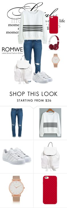"""""""Sweatshirt Romwe"""" by woman-1979 ❤ liked on Polyvore featuring Paige Denim, adidas Originals, Rebecca Minkoff, Larsson & Jennings, Tory Burch and Beats by Dr. Dre"""