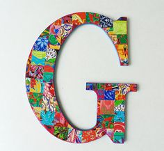 G Nursery Letter G Wall Decor G by DulcetWhimsy on Etsy