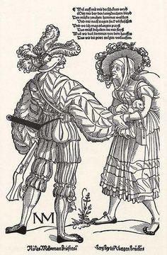 Title: Büchsenschütze und sein Weib (Musketeer and his Wife)  Date: ca. 1535  Artist: Erhard Schoen  Provenance: Germany