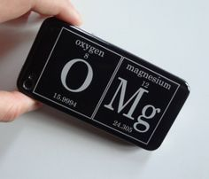 OMG Gel Skin #iphone #gadget #case – Inspired by the Periodic Table Of Elements: Oxygen + Magnesium = OMg
