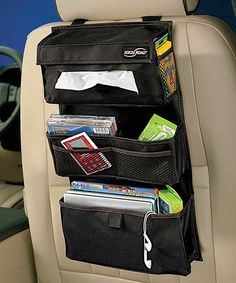 This kid-friendly auto accessory is perfect for stowing backseat road trip essentials like pens, pencils, books, games, snacks and more.