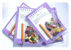 Party Favors. Jelly Bean guessing game. 300413