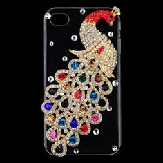 $14.99 3D Colorful Peacock Jewelry Case Cover For iPhone 4 4S edealbest.com