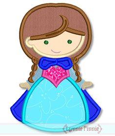 Cutie de la princesa de nieve 4 x 4 5 x 7 6 x 10 svg descargar diseño de bordados de máquina instantánea