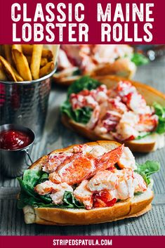 Maine Lobster Rolls Enjoy a taste of New England at home with this Maine lobster roll recipe! With just a few easy steps, you'll be minutes away from eating the best lobster roll you've ever had, just like the classic sandwich served at the shore! Lobster Roll Recipes, Lobster Rolls, Fish Recipes, Seafood Recipes, Dinner Recipes, Cooking Recipes, Seafood Rolls Recipe, Best Lobster Roll Recipe Maine, Side Dishes