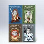 Coolest valentines EVER! I would totally draw these up myself if I thought anyone wanted a valentine with my picture on it! But of you don't like drawing, head on over to hallmark and get some valentines for all the little wookies in your life!