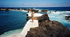 Madeira Island has a lot of these natural pools filled with sea water.