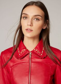 Frilled leather jacket - View all - Ready to wear - Uterqüe United Kingdom