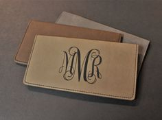 Personalized Faux Leather Checkbook Cover Check by XcaliburInk