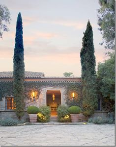 The entrance to the house of Villa di Lemma – restored by artisans in 2001 by the great John Saladino as his personal estate in Montecito