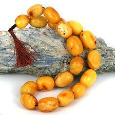 old amber beads - butterscotch tesbih