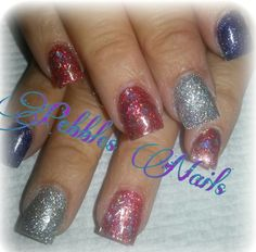 "Acrylic nails by ""Pebbles"""