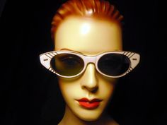 Vintage Cat Eye Sun Glasses 1940s or 1950s Cool by badgirlvintage, $45.00