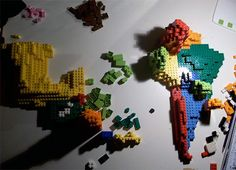 Lego map of Africa!