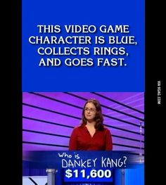 """Epic Fail! The correct answer """"Who is Sonic"""""""